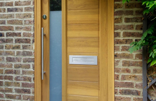 Contemporary Oak Entrance Door