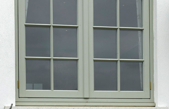 Timber Flush Casement Window with a Flying Mullion