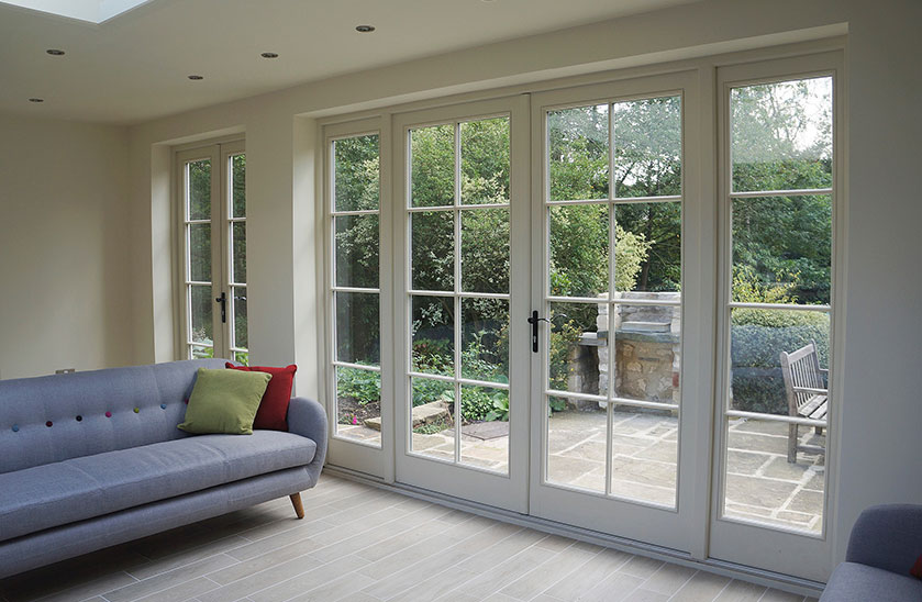 Bespoke french doors timber pvc the burgess group for Large french doors