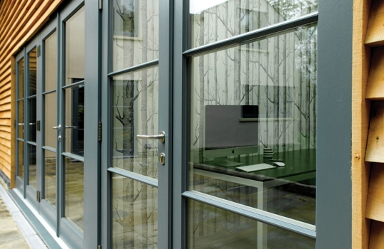 Contemporary Timber French Doors