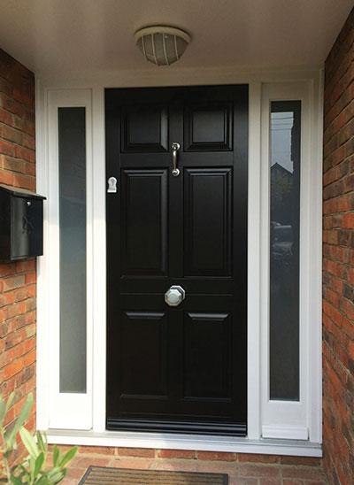 E Townhouse-style-entrance-door-with-satin-nickel-for-furniture ...