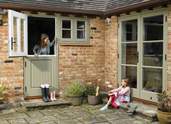 Fd Hardwood French Style And Stable Doors Finished In Oxford Clay