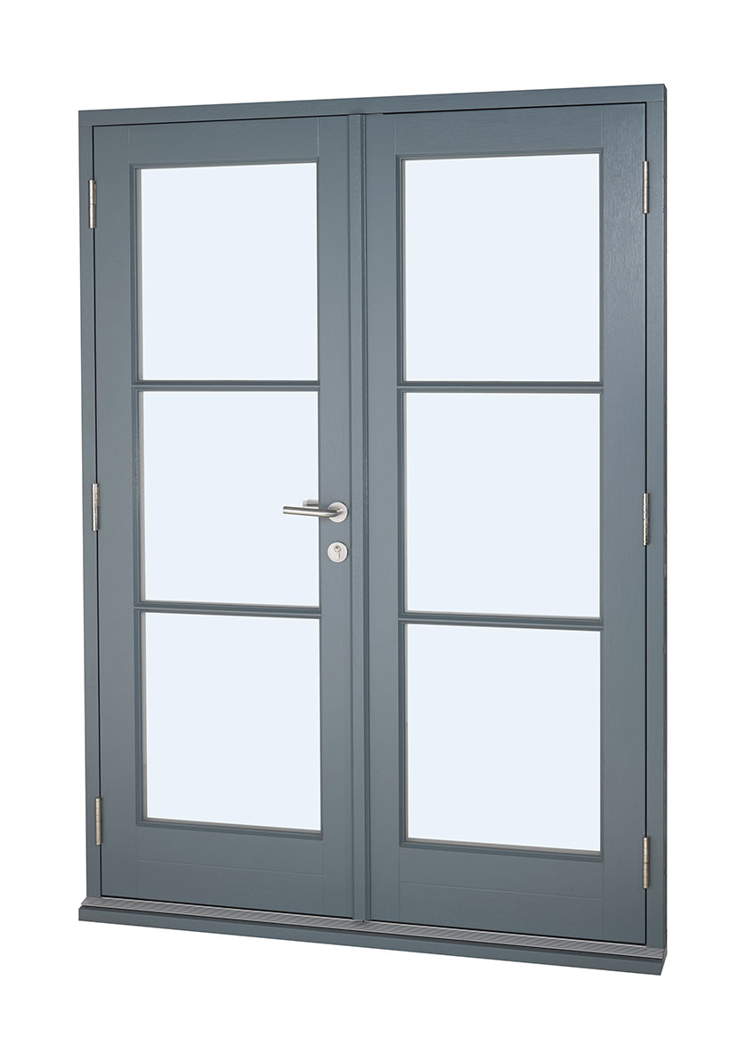 Contemporary Timber French Doors The Burgess Group