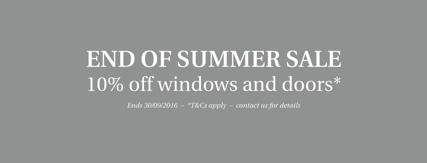 End of September Sale - 10% off windows and doors