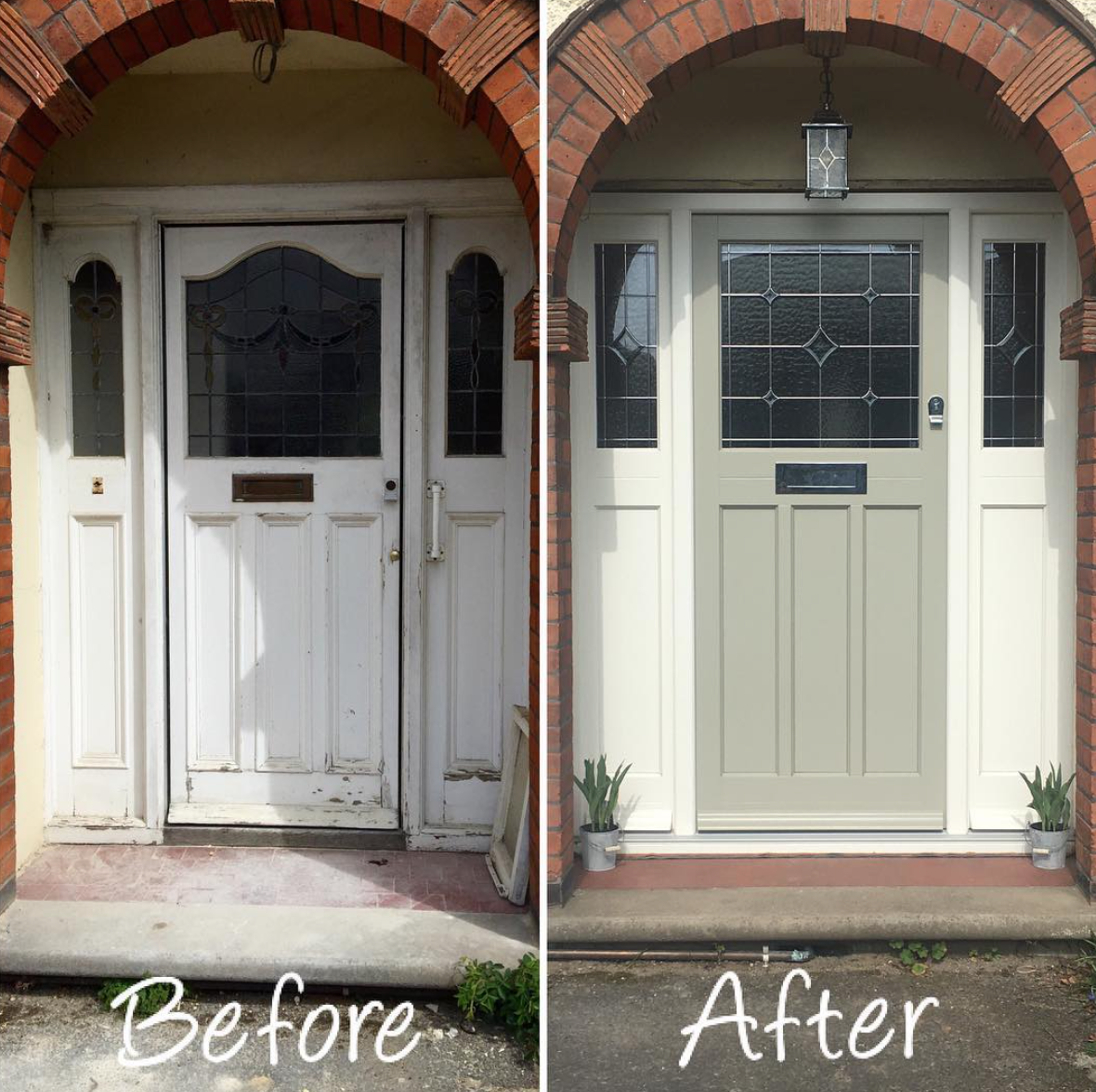 1920\u0027s timber front door & Before and after - 1920\u0027s style timber front door in Colchester ...