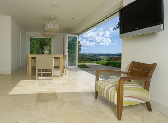 BF Five section bifold door offering magnificent uninterrupted views of the Suffolk countryside