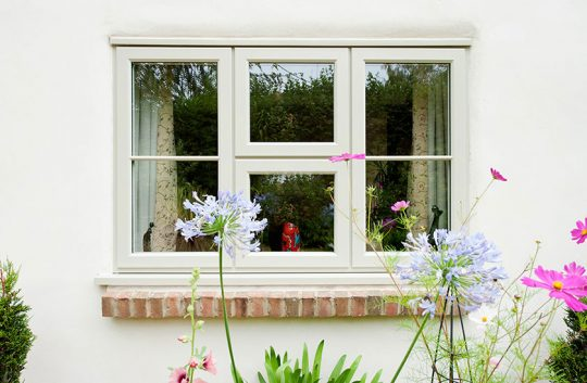 PVC lipped casement window