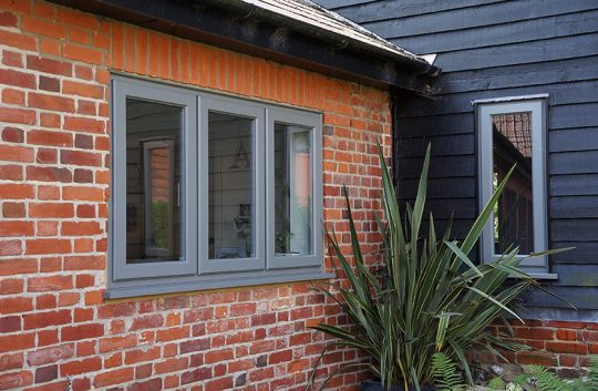 Contemporary doors and lipped casement windows