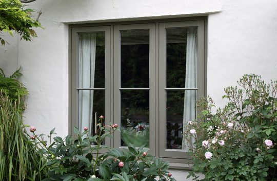 Traditional timber flush casement windows